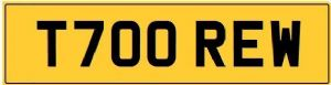DREW T Private Registration Cherished Number Plate REW ANDREW ANDY